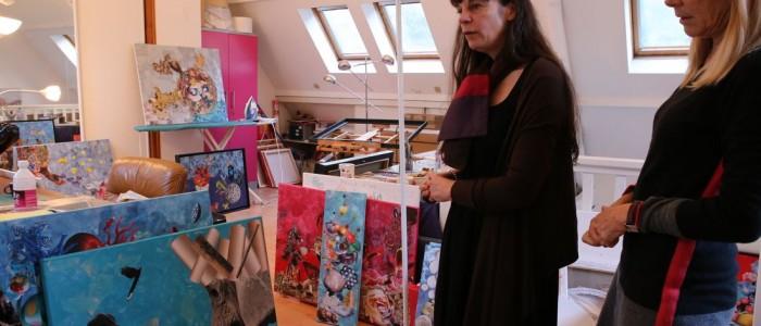 dans l'atelier de Laetitia de Gaulle