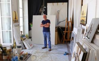 Daniel Convenant dans son atelier
